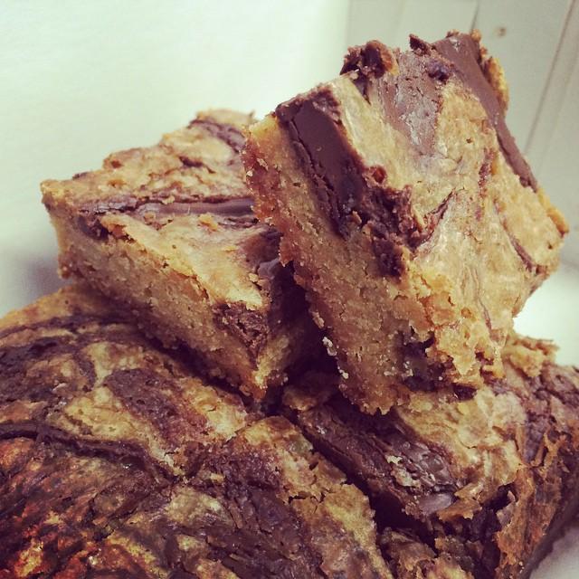Blondies para el desayuno de Malena Gourmet #jamape #igersperu #breakfast